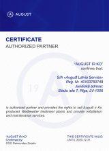 August Latvia sertifikāts