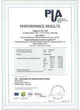 August Latvia veiktspējas sertifikāts