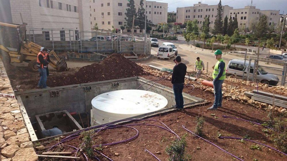 AT-40 attīrīšanas iekārtas piegāde uz Palestīnu.'