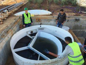 kanalizācijas izbūve Palestīnā