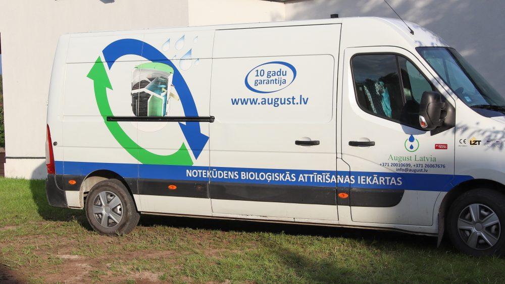 Bioloģiskās attīrīšanas iekārtas AT-8 montāža.'